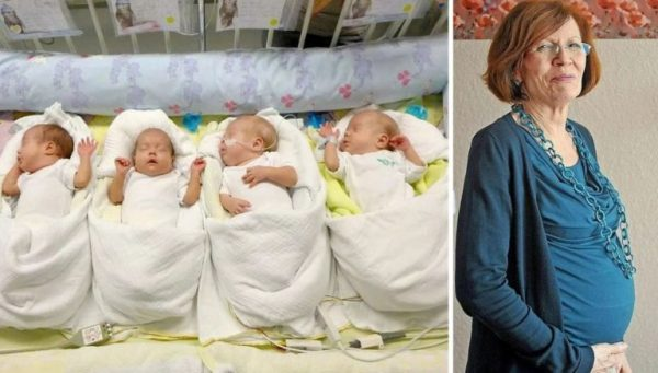 Аннегрет и ее новорожденные дети
