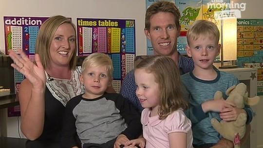 Девід и Кейт із своїми дітьми