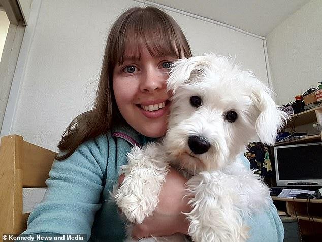 Кеті Сміт із собакою