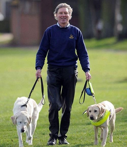Грэхэм Весп и его собаки-поводыри