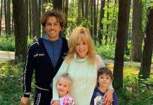 Алла Пугачова і Максим Галкін з дітьми
