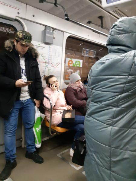 Столичное метро ( вечер, 17 марта 2020 год)