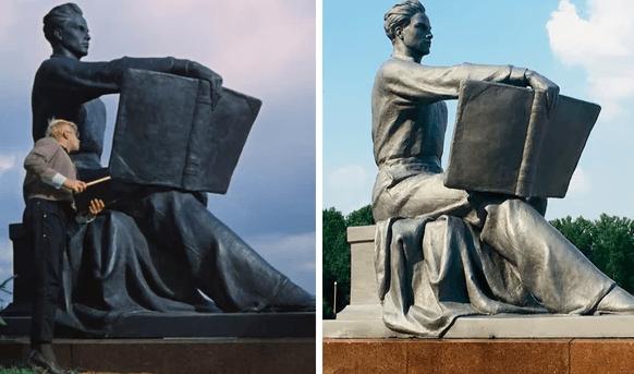Памятник с книгой