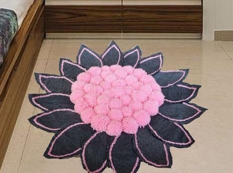 Килимок-квітка для інтер'єру
