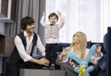 Ірина Білик з чоловіком Асланом і сином Табризом