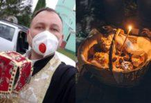 Священник придумав спосіб, як посвятити паску під час карантину
