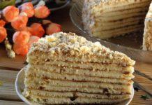 Торт без випічки з заварним кремом