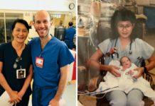 Медсестра зустріла свого пацієнта, який тепер став її колегою
