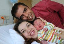 Дитина народилася з родимкою на лобі