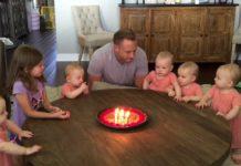 Діти вітають тата з днем народження