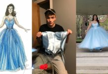Хлопець зшив випускну сукню подрузі