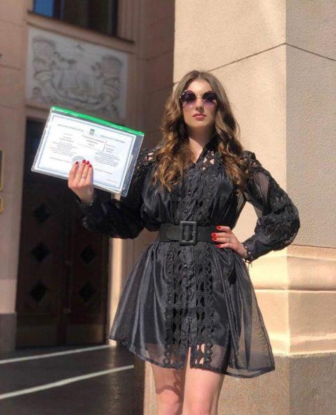 Мария-Барбара Кузьменко в день своего выпускного из университета