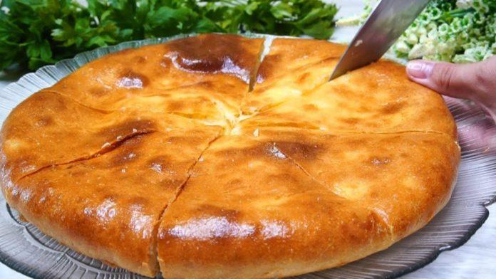 Пирог с картофельным пюре и сыром