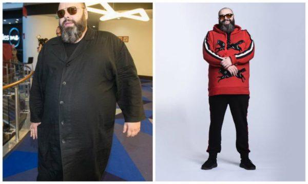 Максим Фадеев до похудения и в процессе