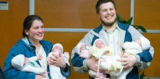 Женщина родила пятерых девочек