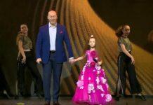 Дмитро Гордон і дочка Санта