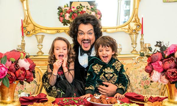 Филипп Киркоров с дочкой Аллой-Викторией и сыном Мартином