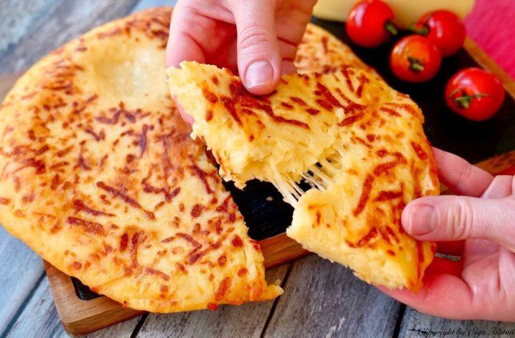 Очень сырный хачапури за 15 минут