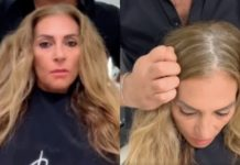 Жінка кардинально змінила стрижку і колір волосся