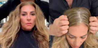 Женщина кардинально изменила стрижку и цвет волос