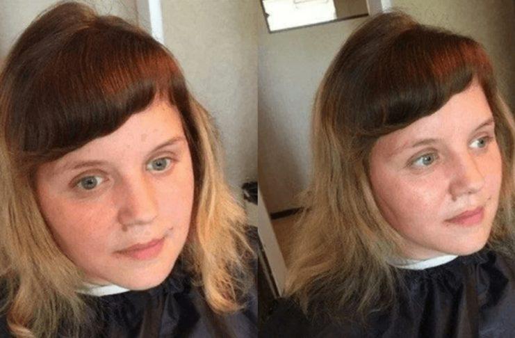 Девушка хотела перемен, поэтому обратилась к парикмахеру