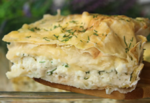 Дієтичний соковитий пиріг з лаваша з сиром