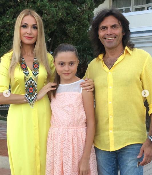 Ольга Сумская, Виталий Борисюк и младшая дочь