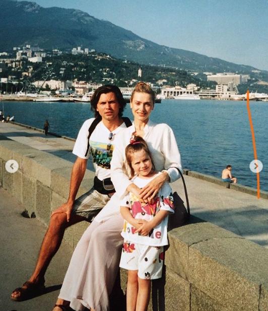 Ольга Сумская с семьей на отдыхе