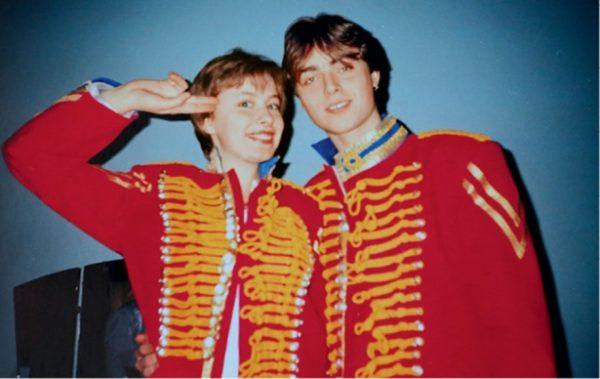 Елена Кравец с мужем Сергеем во время участия в КВН