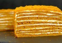 """Рецепт торта  """"Медовик"""" без розкочування коржів"""