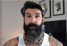 Чоловік збрив бороду