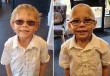 7-річний хлопчик поголився налисо, щоб підтримати друга
