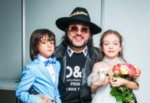 Філіп Кіркоров з донькою і сином