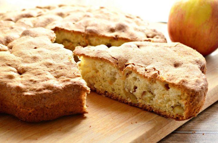 Яблочный пирог за 20 минут