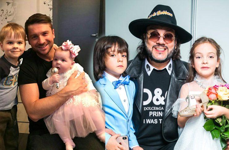 Сергей Лазарев и Филипп Киркоров с детьми