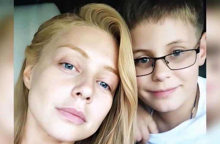 Тина Кароль с сыном Веней