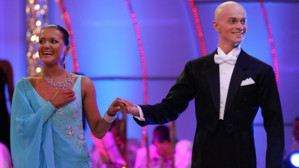 "Влад Яма и Наташа Могилевская в качестве участников ""Танців з зірками"", 2006 год"