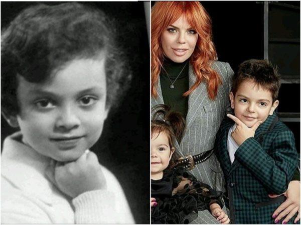 Слева: детское фото Киркорова; справа: Анастасия и сын Саша