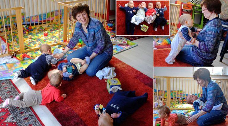 Аннегрет Раунінг з дітьми