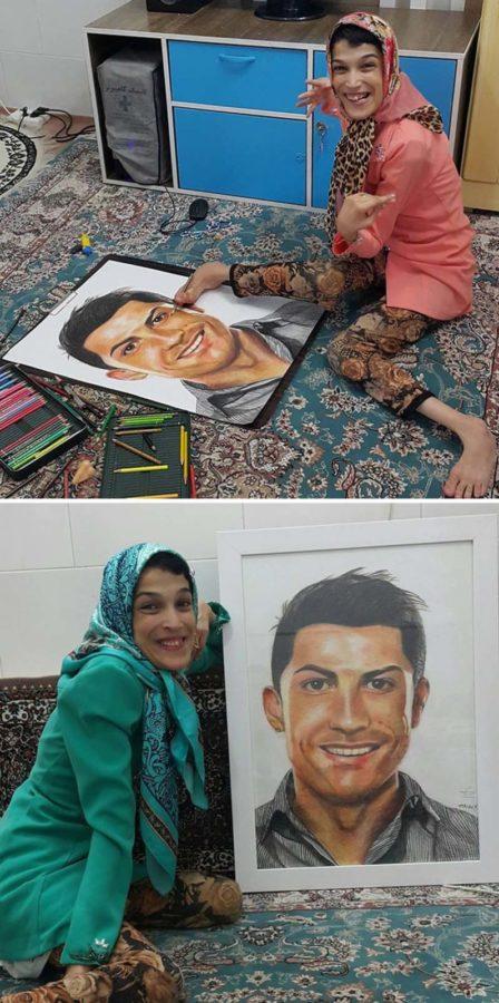 Дівчина намалювала портрет Кріштіану Роналду