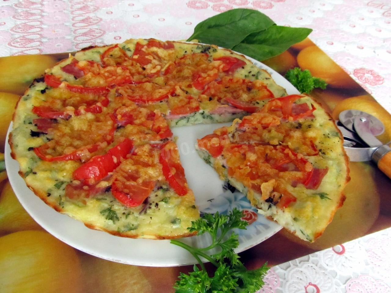 Кабачкова піцца с помідорами