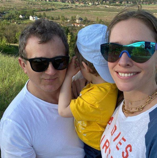 Катя Осадча и Юрий Горбунов с сыном Иваном