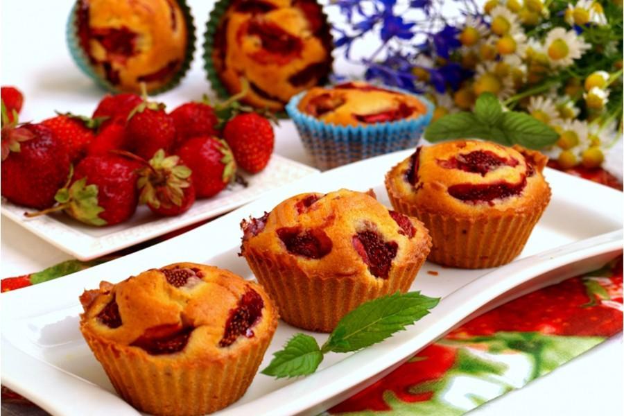 Кексы можно приготовить с любыми ягодами