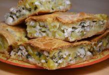 Закусочний м'ясний пиріг з картоплею