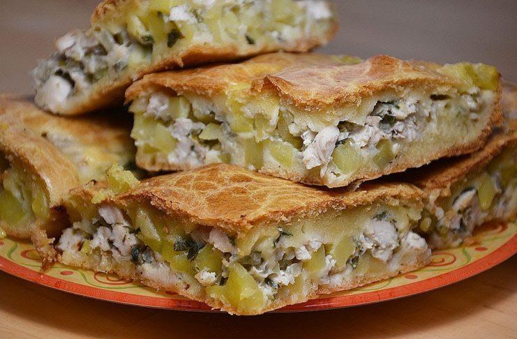 Закусочный мясной пирог с картофелем