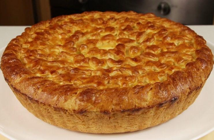 Пирог с курицей за 30 минут