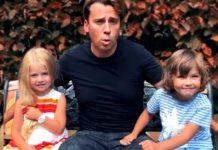 Максим Галкін з донькою і сином