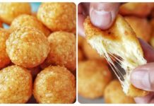 Сырные шарики в панировочных сухарях