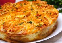 Овочевий пиріг із заливкою за 35 хвилин