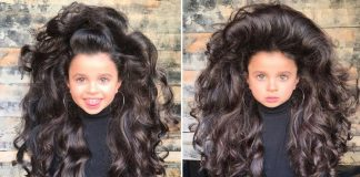 Девочка с роскошными длинными волосами